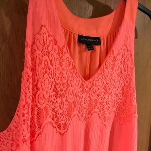 Coral Lace Summer Dress